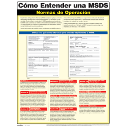 """ComplyRight® Understanding A MSDS Poster, 18"""" x 24"""", Spanish"""