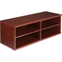 Lorell® Concordia Series Low Lateral Storage Cabinet, 4-Shelves, Mahogany