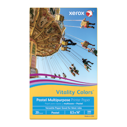 """Xerox® Vitality Colors™ Multi-Use Printer Paper, Legal Size (8 1/2"""" x 14""""), 20 Lb, 30% Recycled, Goldenrod, Ream Of 500 Sheets"""