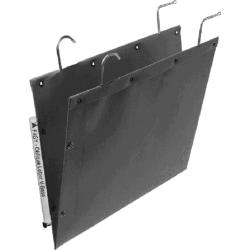 "Oblique Filing Systems F4 V-Base Heavy-Duty Kraft File Folders, 2"" Expansion, Letter Size, Gray, Box Of 25"