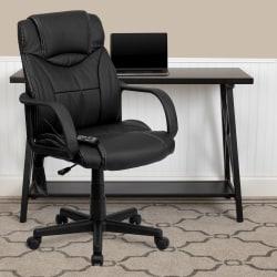 Flash Furniture Bonded LeatherSoft™ High-Back Massaging Chair, Black