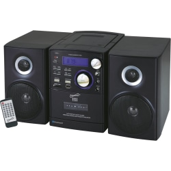 Supersonic SC-807 Micro Hi-Fi System - iPod Supported - CD Player, Cassette Recorder - 1 Disc(s) - 1 Cassette(s) - AM, FM - CD-DA, MP3 - USB - Remote Control