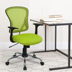Flash Furniture Mesh Mid-Back Task Chair, Green/Black/Chrome