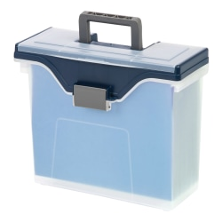 Office Depot® Brand File Box, Small, Letter Size, Clear/Blue