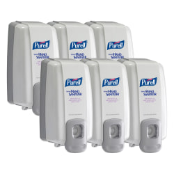 PURELL® NXT Hand Sanitizer Dispenser - Manual - 3.38 fl oz Capacity - Dove Gray - 6 / Carton