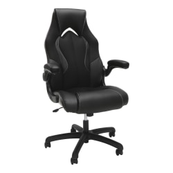 OFM Essentials 3086 Racing-Style Bonded Leather High-Back Gaming Chair, Black