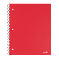 "Office Depot® Brand Stellar Poly Notebook, 8 1/2"" x 11"", 1 Subject, College Ruled, 200 Pages (100 Sheets), Red"