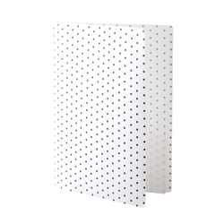 "See Jane Work® Poly Expanding File Folder, 6-Pocket, Letter Size, 4"" Expansion, White/Black Dot"