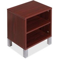 "Lorell® Concordia Series Desktop Storage, 2-Shelf, for 66""W Desk, Mahogany"