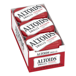 Altoids® Curiously Strong Mints, Sugar-Free Peppermint, 0.33 Oz, Pack Of 9 Tins