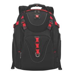 Wenger® Maxxum Laptop Backpack, Black/Red