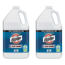 Easy-Off Concentrated Glass Cleaner - Concentrate Liquid - 128 fl oz (4 quart) - 2 / Carton - Dark Blue