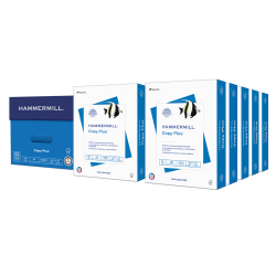 """Hammermill® Paper, Copy Plus, Letter Size (8 1/2"""" x 11""""), 20 Lb, 92 Bright, Ream Of 500 Sheets, Case Of 10 Reams, 105007C"""