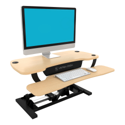 VersaDesk Power Pro Sit-To-Stand Height-Adjustable Electric Desk Riser, Maple