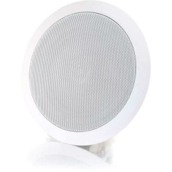 C2G Cables To Go 5in Ceiling Speaker 70v - White (Each) - 100 Hz to 20 kHz - 8 Ohm