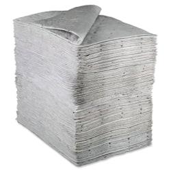 "3M Maintenance Sorbent Pad - 15.5"" Width x 20.5"" Length - 100/Carton - Scrim - White"