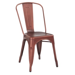 Office Star™ Bristow Armless Chair, Brushed Red Copper, Set Of 2 Chairs