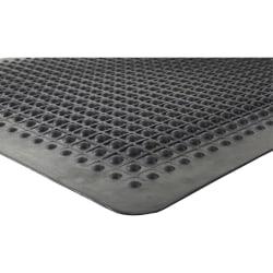 Genuine Joe Flex Step 50% Recycled Anti-Fatigue Mat, 3' x 5', Black