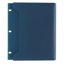Office Depot® Brand Expanding Binder Pocket, Letter Size, 100 Sheet Capacity, Navy