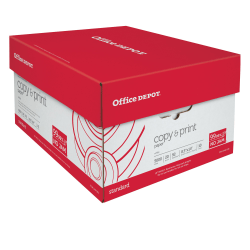 """Office Depot® Brand Copy And Print Paper, Legal Size (8 1/2"""" x 14""""), 20 Lb, Ream Of 500 Sheets, Case Of 10 Reams"""