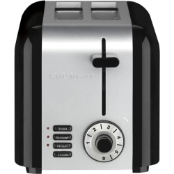 Cuisinart 2-Slice Compact Stainless Toaster - Toast, Reheat, Defrost, Bagel - Stainless