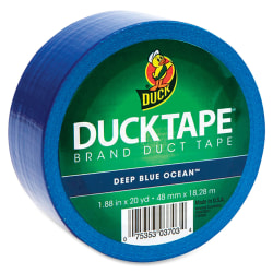 """Duck Brand Brand Color Duct Tape - 20 yd Length x 1.88"""" Width - 1 / Roll - Blue"""