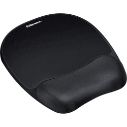 "Fellowes Memory Foam Mouse Pad/Wrist Rest- Black - 1"" x 7.94"" x 9.25"" Dimension - Black - Memory Foam, Jersey Cover - Wear Resistant, Tear Resistant, Skid Proof"