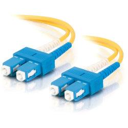 C2G-15m SC-SC 9/125 OS1 Duplex Singlemode Fiber Optic Cable (Plenum-Rated) - Yellow - 15m SC-SC 9/125 Duplex Single Mode OS2 Fiber Cable - Plenum CMP-Rated - Yellow - 50ft