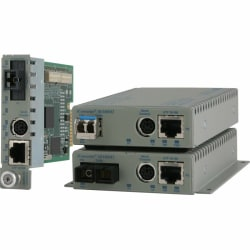 Omnitron Systems 8903N-2W Transceiver/Media Converter - 1 x Network (RJ-45) - 1 x SC Ports - 100Base-FX, 10/100Base-TX - Internal