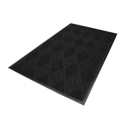 M+A Matting Waterhog Eco Premier Classic Floor Mat, 3'H x 5'W, Black Smoke