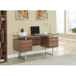 Monarch Specialties Retro-Style Computer Desk, Walnut