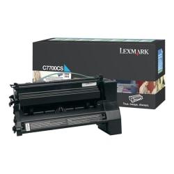 Lexmark C7700CS Cyan Return Program Toner Cartridge