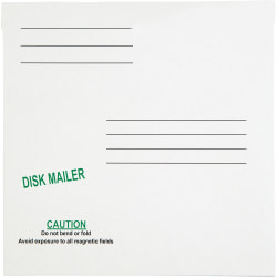 """Quality Park 5 1/4"""" Economy Disk Mailers - Disc/Diskette - 6"""" Width x 5 7/8"""" Length - Paperboard - 10 / Pack - White"""