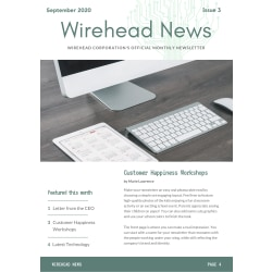 Single Page Newsletter