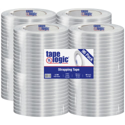 """Tape Logic® 1300 Strapping Tape, 3/8"""" x 60 Yd., Clear, Case Of 96"""