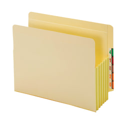 "Pendaflex® End-Tab File Pockets With Tyvek® Gusset, 5 1/4"" Expansion, Letter Size, Manila, Pack Of 10 Pockets"