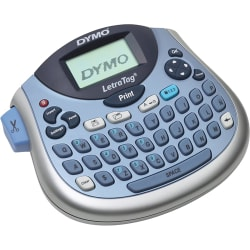 """Dymo LetraTag LT100-H Label Maker - 6.8mm/s Color - Tape - 0.47"""" - 160 dpi Auto Power OFF, Manual Cutter, Time Function, Date Function"""