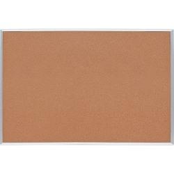 """Lorell® Basic Cork Bulletin Board, 48"""" x 72"""", Aluminum Frame With Silver Finish"""