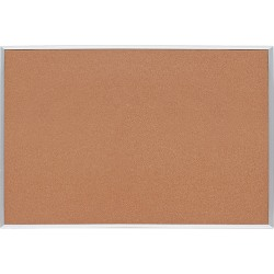 """Lorell® Basic Non-Magnetic Cork Bulletin Board, 48"""" x 72"""", Aluminum Frame With Silver Finish"""