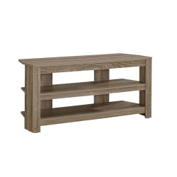 """Monarch Specialties TV Stand, 3-Shelf, For Flat-Panel TVs Up To 40"""", Dark Taupe"""
