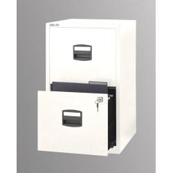 "Bisley 14-13/16""D Vertical 2-Drawer Under-Desk Storage Cabinet, Metal, White"