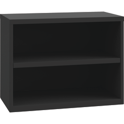 "Lorell® 36""W Open Credenza, 2-Shelf, Black"