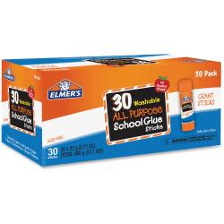 Elmer's All-purpose School Glue Sticks Bulk Pack - 0.77 oz - 30 / Box - White