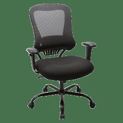 Lorell® Big and Tall Executive Mesh/Fabric Chair, Black