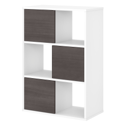 Bush Business Furniture Jamestown 6-Cube Organizer, Storm Gray/White, Standard Delivery