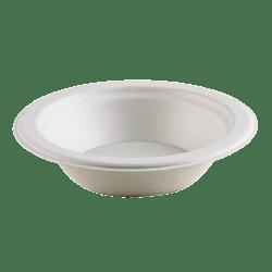 Highmark®  Compostable Sugarcane Paper Bowls,  12 Oz, White, Case Of 1,000