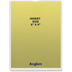 """Anglers Heavy Crystal Clear Poly Envelopes - Document - 6"""" Width x 9"""" Length - Polypropylene - 50 / Pack - Crystal Clear"""