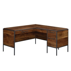 """Sauder® Nova Loft 59""""W L-Shaped Desk, Grand Walnut"""