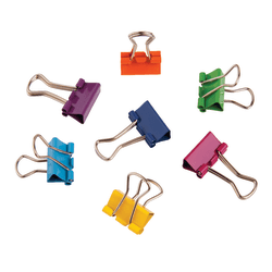 """Office Depot® Brand Fashion Binder Clips, 1/2"""", Assorted Colors, Pack Of 60"""