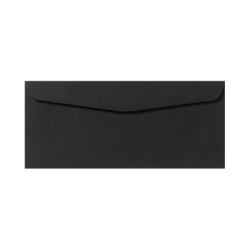 """LUX Regular Envelopes With Moisture Closure, #9, 3 7/8"""" x 8 7/8"""", Midnight Black, Pack Of 500"""